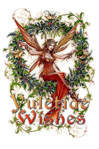 Mistletoe Fairy Card | Angel Clothing