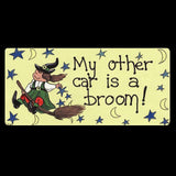 My Other Car Is A Broom Smiley Fridge Magnet | Angel Clothing