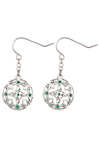 Mystica Celtic Round Earrings
