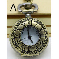 Necklace Steampunk Pocket Watch Victorian PW-A - Angel Clothing