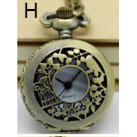Necklace Steampunk Pocket Watch with Countryside Design PW-H - Angel Clothing