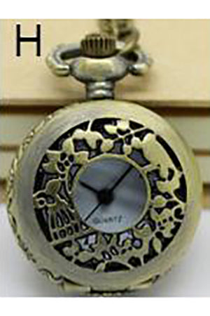 Necklace Steampunk Pocket Watch with Countryside Design PW-H | Angel Clothing