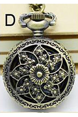 Necklace Steampunk Flower Pocket Watch PW-D | Angel Clothing