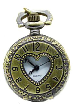 Necklace Steampunk Heart Pocket Watch PW-L | Angel Clothing