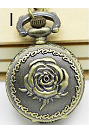 Necklace Steampunk Rose Pocket Watch PW-I | Angel Clothing