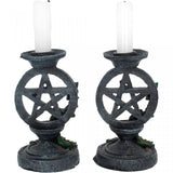 Aged Pentagram Candlesticks | Angel Clothing