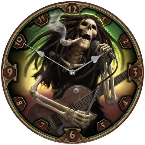 Nemesis Now Gothic Clock, Dead Dread Wall Clock with Dreaded Skeleton Rocker | Angel Clothing