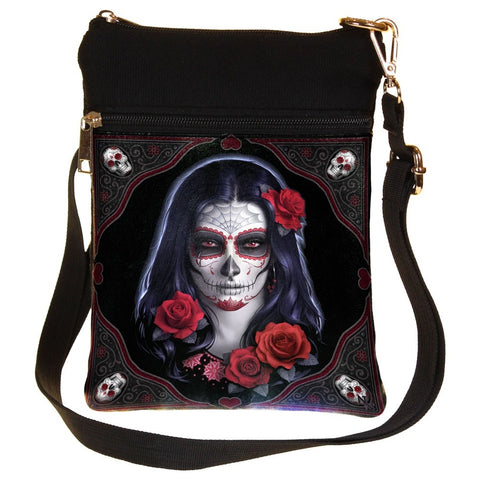Nemesis Now Sugar Skull Day of the Dead Gothic Shoulder Bag | Angel Clothing