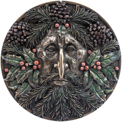 Nemesis Now Tree Spirits Wall Plaque, Winter Pagan Gothic Wall Hanging 14.5cm | Angel Clothing