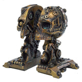 Steampunk Cranial Book Ends 18.5 cm | Angel Clothing