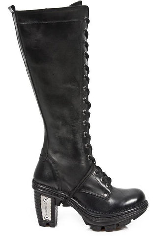 New Rock Black Steel Neotrail Boots M.NEOTR013-S1 | Angel Clothing