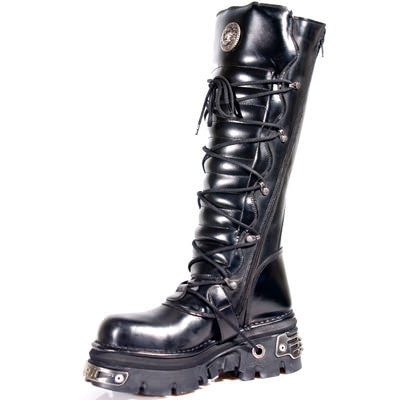 New Rock Boots, Reactor Sole Boots with Buckles, 272 Boots - Angel Clothing