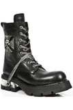 New Rock Biker Boots Skull Cross Badge M.1623 | Angel Clothing