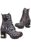 New Rock Embossed Vintage Flower Boots | Angel Clothing
