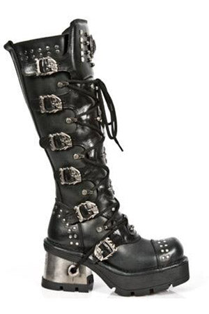 New Rock Ladies Knee Skull Boots M.1030-S1 | Angel Clothing