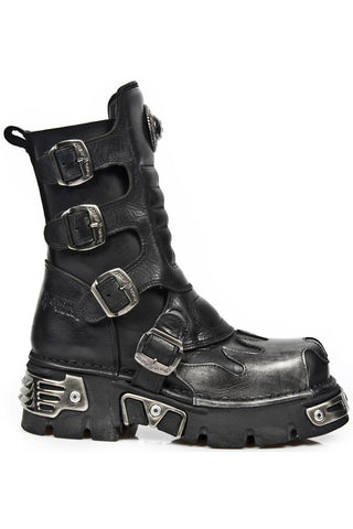 New Rock M.591X S2 Silver Flame Boots | Angel Clothing
