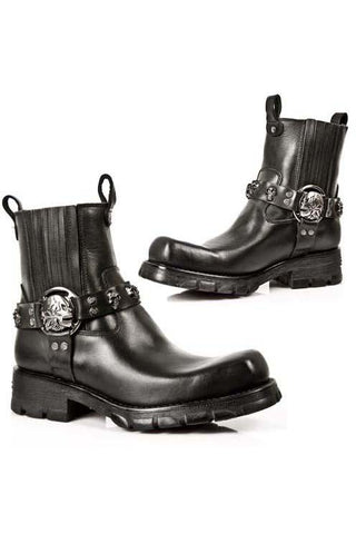 New Rock Motorcycle Collection Ankle Boots M.7621-S1 | Angel Clothing