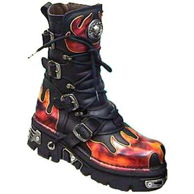 New Rock Red Flame Boots, 591 Red Flame Boots - Angel Clothing