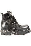 New Rock Silver Flame Ankle Boots, M.288-S2 | Angel Clothing