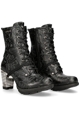 New Rock Vintage Flower Trail Boots M.TR001-S24 | Angel Clothing