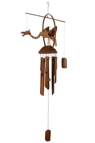 Nodding Dragon Bamboo Windchime | Angel Clothing