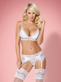 Obsessive White Lingerie Set | Angel Clothing