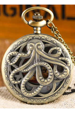 Steampunk Octopus Pocket Watch | Angel Clothing