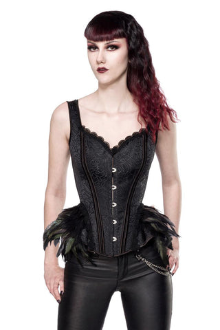 Ocultica Corset with Feathers | Angel Clothing