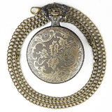 Steampunk Pocket Watch Open Flower Design | Angel Clothing