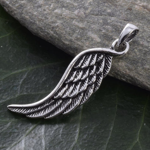 Seventh Sense Angel Wing Pendant Silver | Angel Clothing