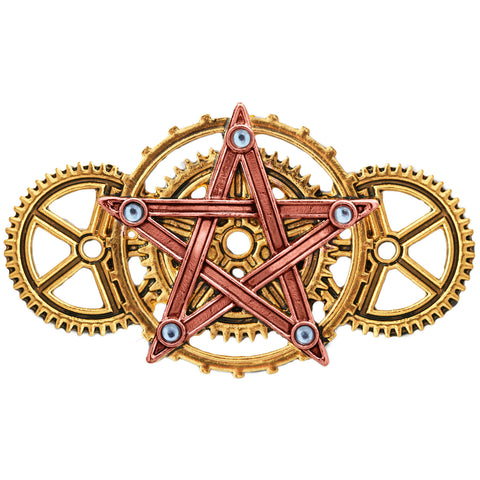 Penta Meridia Brooch. Steampunk Engineerium by Anne Stokes EN9 - Angel Clothing