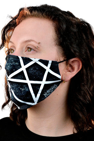 Heartless Pentagram Face Mask | Angel Clothing