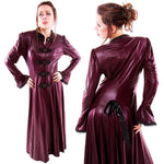 Phaze Rubber Look Agnes Coat Wine | Angel Clothing