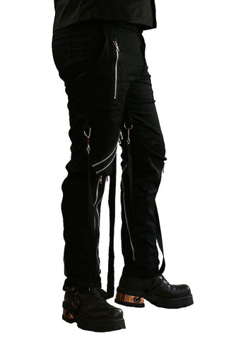 Phaze - Canvas Bondage Trousers with Zips & Bondage Straps - Angel Clothing