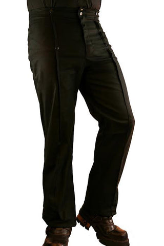 Phaze Emporium Steampunk Trousers Black | Angel Clothing