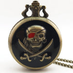 Steampunk Pirate Pocket Watch Black | Angel Clothing