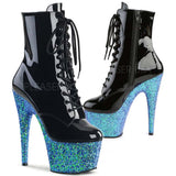 Pleaser Blue Glitter ADORE-1020LG Boots | Angel Clothing