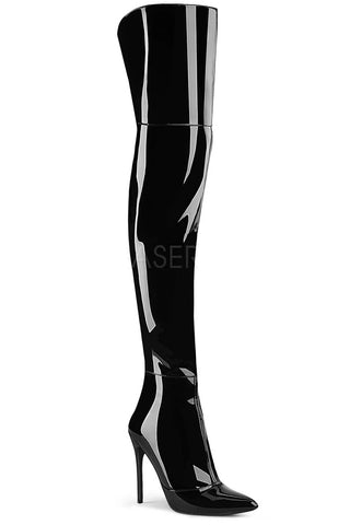 Pleaser COURTLY-3012 Boots Patent | Angel Clothing