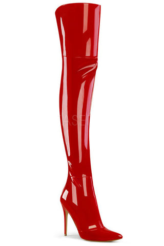 Pleaser COURTLY 3012 Boots Red | Angel Clothing