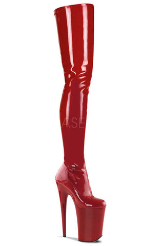 Pleaser INFINITY-4000 Boots Red | Angel Clothing
