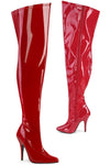 Pleaser Pink Label SEDUCE-3000WC Boots Red | Angel Clothing