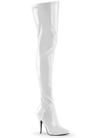Pleaser SEDUCE 3000 Boots White | Angel Clothing