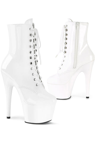 Pleaser White ADORE 1020 Boots | Angel Clothing