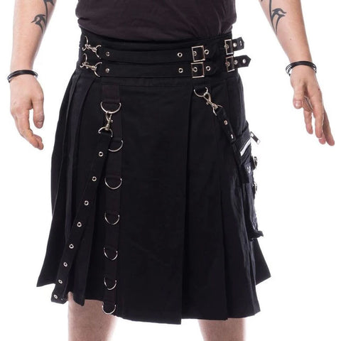 Poizen Chemical Black Calle Kilt | Angel Clothing