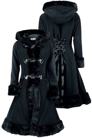 Poizen Industries - Minx Coat - Black - Angel Clothing