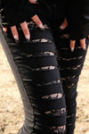 Poizen Industries - Vixxsin - Slasher Leggings - Black | Angel Clothing