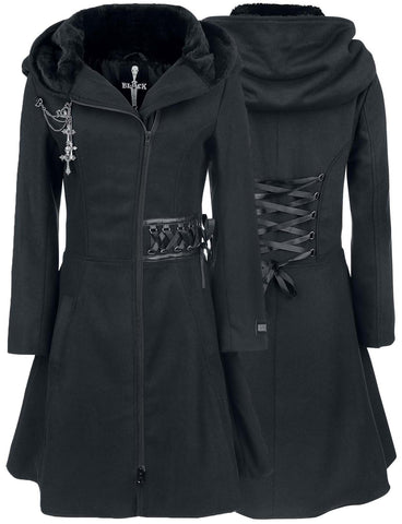 Poizen Industries Alchemy Black Tears Coat | Angel Clothing