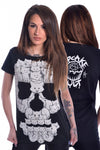 Poizen Industries Cupcake Cult Cat Skull T, Ladies Gothic T-Shirt | Angel Clothing