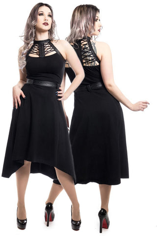 Poizen Industries Gothic Dress, Ravette Dress - Angel Clothing