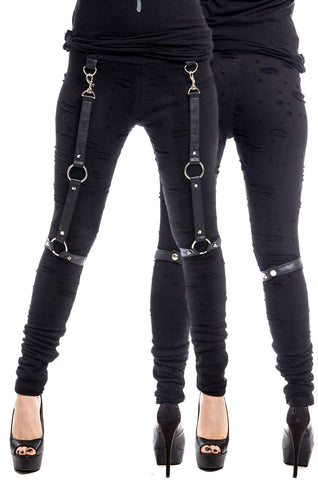 Poizen Industries Gothic Leggings, Vixxsin Heero Leggings - Angel Clothing